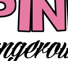 Pretty in Pink, Dangerous in Camo Sticker