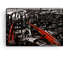Road to rack and ruin Canvas Print