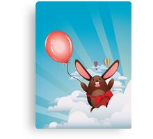 Chocolate Bunny with Balloon Canvas Print