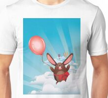 Chocolate Bunny with Balloon Unisex T-Shirt