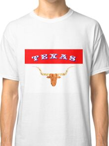 Abstract Longhorn & Texas Flag Colors Classic T-Shirt
