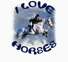 I LOVE HORSES Womens Fitted T-Shirt
