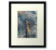 Among Clouds Framed Print
