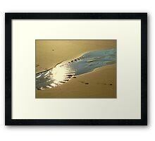 sky on sand Framed Print