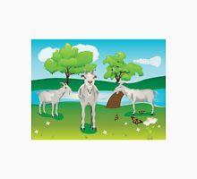 Goat and Green Lawn2 Unisex T-Shirt