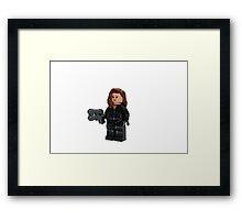 LEGO Black Widow Framed Print
