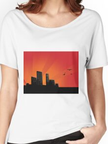 Sunset city 2 Women's Relaxed Fit T-Shirt