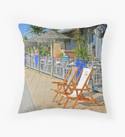 beach bar Throw Pillow
