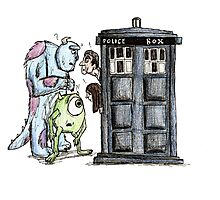 Monsters vs Doctor who Photographic Print