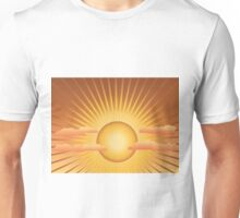 Sun with rays and clouds Unisex T-Shirt