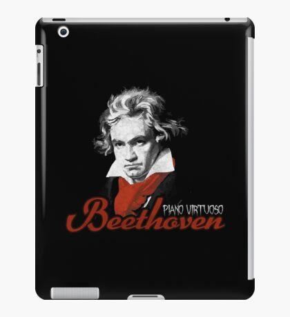 Beethoven piano virtuoso (black) iPad Case/Skin