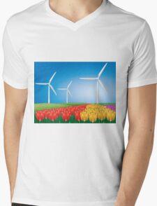 Wind turbine 2 Mens V-Neck T-Shirt