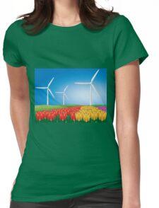 Wind turbine 2 Womens Fitted T-Shirt