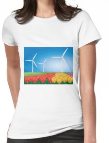 Wind turbine 2 Womens Fitted T-Shirt