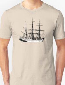 Sailing Vessel two color vintage Unisex T-Shirt