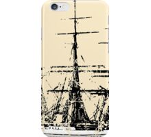 Sailing Vessel two color vintage iPhone Case/Skin