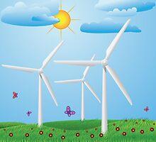 Wind turbines by AnnArtshock