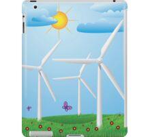 Wind turbines iPad Case/Skin