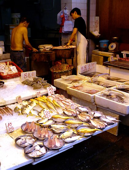 Fish market, Mong Kok, Hong Kong by Alisdair Gurney