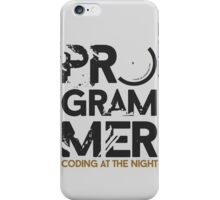 programmer - coding at the night iPhone Case/Skin