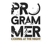 programmer - coding at the night Photographic Print