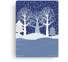 Winter ice Canvas Print