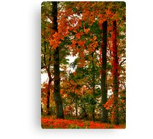 Paints With Leaves Canvas Print