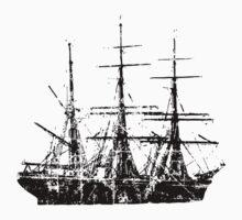 Sailing Ship Vintage Baby Tee