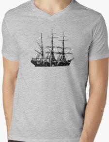 Sailing Ship Vintage Mens V-Neck T-Shirt