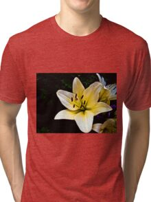 White Lily in the garden 2 Tri-blend T-Shirt