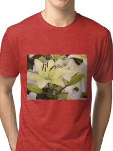 White Lily in the garden 5 Tri-blend T-Shirt