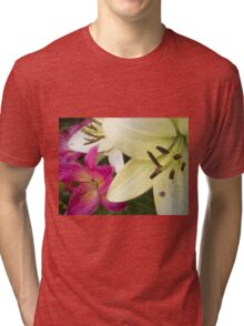 White Lily in the garden 6 Tri-blend T-Shirt