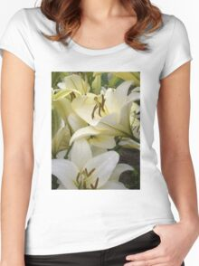White Lily in the garden 7 Women's Fitted Scoop T-Shirt