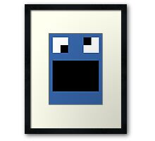 Creature Nova Minecraft Cookie Monster Framed Print