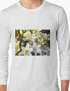 White Lily in the garden 8 Long Sleeve T-Shirt