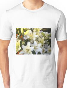 White Lily in the garden 8 Unisex T-Shirt