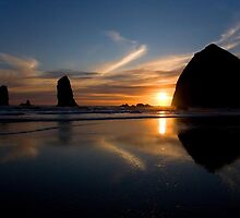 Haystack Rock & The Needles by SandyJohnson