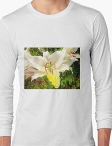 White Lily in the garden 12 Long Sleeve T-Shirt