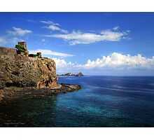 Castle, rocks  and clouds Photographic Print