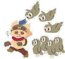 God Damn Owls Teemo Art by RBSTORESSX