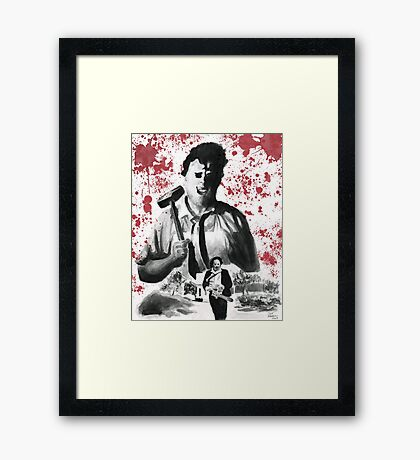 They Call Him Leatherface Framed Print