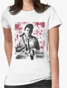 They Call Him Leatherface Womens Fitted T-Shirt