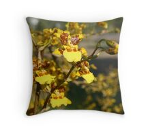 Orchids in full bloom Throw Pillow