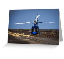Helicopter Takeoff Greeting Card