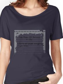 2 Rules Of Success in Life Women's Relaxed Fit T-Shirt