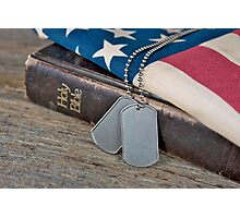 God and Country Photographic Print