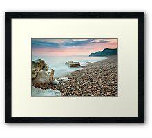 Eype Beach at Dusk Framed Print