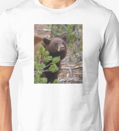 Black Bear with Cinnamon Color Unisex T-Shirt