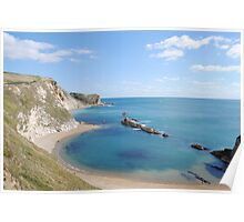 Man of War Bay - West Lulworth, Dorset, UK Poster