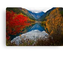 Autumn in Mirror Lake, Jiuzhaigou 秋临九寨沟 Canvas Print
